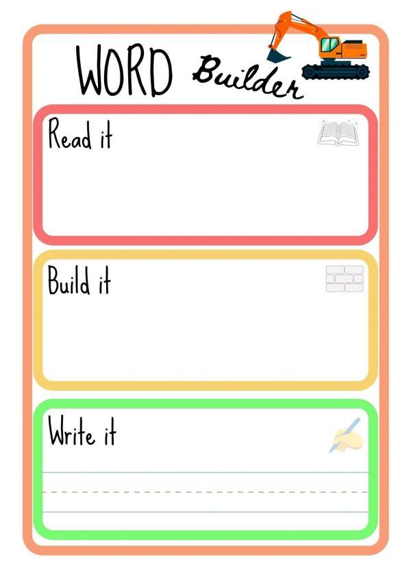 sight word practice builder