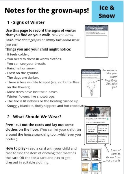 Ice and Snow activities