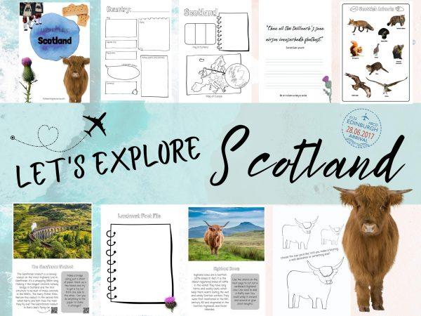 Let's Explore Scotland project country unit study